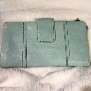 Fossil Baby Blue Leather Wallet